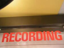 Recording lighted studio sign