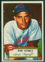 1952 Topps, #161, Bud Byerly, Cincinnati Reds, EX-EX/MT, Well Centered