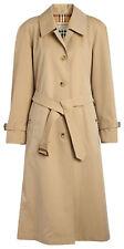 Burberry Women's Side-slit Tropical Gabardine Trench Coat - Honey, Size 16