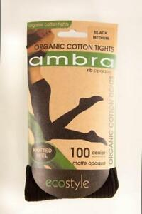Ambra Organic Cotton Rib Tights