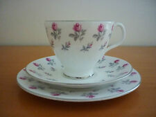 BEAUTIFUL VINTAGE ROYAL ALBERT WINSOME 1950's TRIO SET -CUP, SAUCER & SIDE PLATE