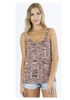 Billabong Time To Go Women's Size Small Scoop Neck Sleeveless Sweater Knit Top
