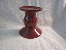 New Longaberger Paprika Pillar Candle Holder in original box