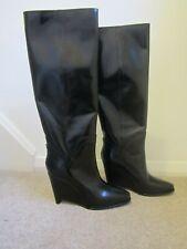 New £890  Maison Martin Margiela Knee Length Wedge Heel Boots - Size 37