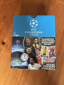 Topps Stickers BOX Champions League 2016/2017.   50 sealed packs