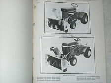 ORIG. JOHN DEERE 32,32A, 321, 338 LAWN TRACTOR SNOW THROWER PARTS CATALOG MANUAL