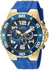 Reloj Cronógrafo Invicta Para Hombres Pro Diver Poliuretano Azul 24670
