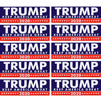 10pcs Donald Trump for President Keep America Great Again 2020 Bumper Sticker
