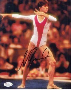 Nadia Comaneci autographed signed auto 1976 Olympics 8x10 gymnastics photo (JSA)