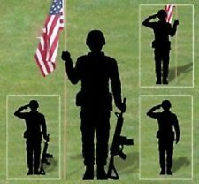 "Handmade Lawn Art Yard Shadow Silhouette - Soldier - 71"" x 36"""