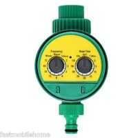 Electronic Water Timer Solenoid Valve Irrigation Sprinkler Controller Yellow
