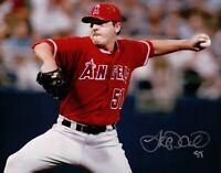 Joe Saunders Signed 8X10 Photo Autograph Anaheim Angels Close-Up Silver Auto COA