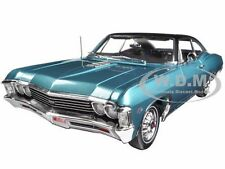 1967 CHEVROLET IMPALA SS 427 TURQUOISE HEMMINGS LTD 1254 1/18 AUTOWORLD AMM1027