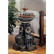 Ramses Ii Egyptian History With Exotic Décor Sculptural Glass Topped Table