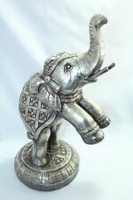 925 sterling Silver foil on wood , animal elephant figure Home Decorative