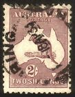 Kangaroo 1929 2/- Maroon SMW Sg110 FU. Bright both sides • FREE POST •
