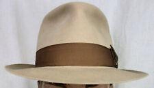 New Handmade by Art Fawcett Sahara 100% Beaver Fedora Hat size 7 3/8