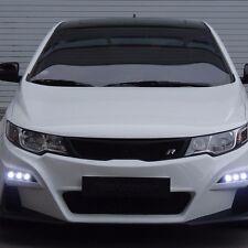 ROADRUNS Front Body Kit Bumper + Grille + LED Daylight for KIA Forte Koup 10-13
