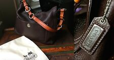 AUTH COACH ESPRESSO BROWN TAN 10132 CHELSEA PEBBLED LEATHER SHOULDER BAG PURSE