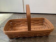 Longaberger Basket Handwoven 1989 Bread Baguette Bakery Basket