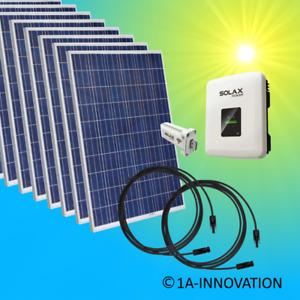 3000Watt Solaranlage Komplettpaket 3 KW Solar Anlage Hausnetzeinspeisung Plug
