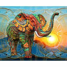 5D DIY Elephant Animal Diamond Embroidery Painting Cross Stitch Kit Home Decor