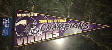 MINNESOTA VIKINGS 2000 CENTRAL DIVISION CHAMPS PENNANT