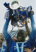 N'Golo Kante Hand Signed 12x8 Photo - Leicester City Football Autograph .