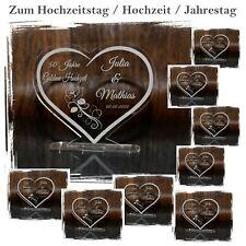 1 Aufsteller Hochzeitstag - Inkl. Wunschgarvur - Tolle Geschenkidee  Gravur HERZ