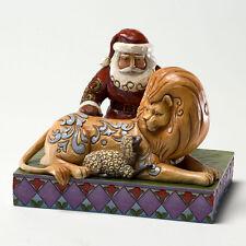 Jim Shore Classic Santa w/Lion & Lamb Figurine ~ Peace ~ 4022920