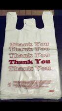 "Lot 100 Thank You Plastic Medium Size Shopping Merchandise Bags 11.5""x 6"" x 21"""