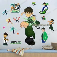 LARGE BEN 10 Wall Stickers REMOVABLE Kids Art Decal Boys Room Re-Positionable