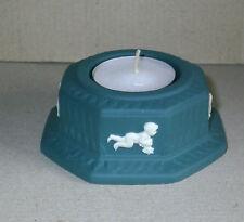 Wedgwood Jasperware Spruce Green Night Light Candle Holder