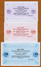 Set, Ship's Money, Netherlands, 1;2.50;10 Guilders, 1957