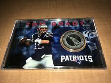 Tom Brady New England Patriots 39mm Silver Plated Medallion In Case