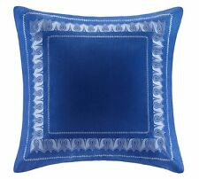 ECHO DESIGN JAKARTA 1 EUROPEAN PILLOW SHAM EMBROIDERED DEEP INDIGO