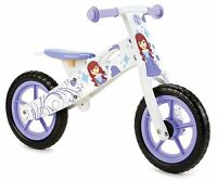 PRINCESS GIRLS BALANCE BIKE,TOP QUALITY WOODEN PURPLE GIRLIE KIDS LEARNING CYCLE