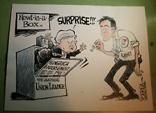 NEWT GINGRICH & MITT ROMNEY NEW HAMPSHIRE PRIMARY 2012 KOTERBA POLITICAL CARTOON