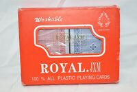 New Vintage Royal Double Deck 100% Plastic Washable Playing Cards Unopened
