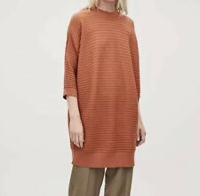 Cos VOLUMINOUS WOOL RIB-KNIT DRESS Size EUR M RRP£79 {N97}