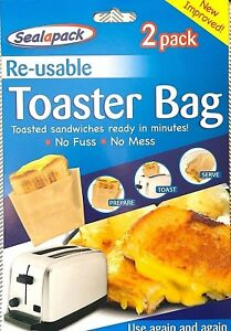 Reusable Toaster Bags Toastie Sandwiches Toasted Pockets Toastabags Toast Bag
