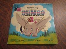 45 tours livre disque walt disney presente dumbo l'elephant volant