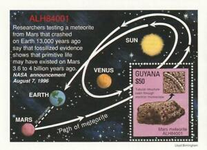 Special Edition Guyana Commemorating ALH84001 Meteorite from Mars.  Mint.