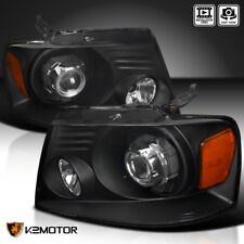 Black 2004-2008 Ford F150 06-08 Lincoln Mark LT Retrofit Projector Headlights