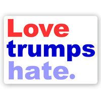 CM242-MAG - Love Trumps Hate - Anti President Donald Trump Mini Color MAGNET