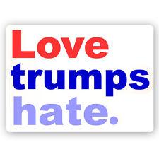 Cm242 - Love Trumps Hate - Anti Trump Mini Color Magnet