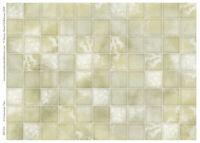 1/12 Dolls House Limestone Square Floor Tiles Gloss Card A3 Flooring DIY435