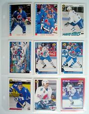 LOT OF NINE 1991-92-93'S QUÉBEC NORDIQUES CARDS+1 REFILL *** 9 CARTES NORDIQUES+