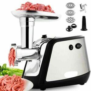 Tritacarne Elettrico 1400 W Carne e Verdura con 3 Dischi Taglio e Accessori