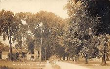 "Deerfield Ma ""The Albany Road"" Dirt Street View Rppc Postcard"